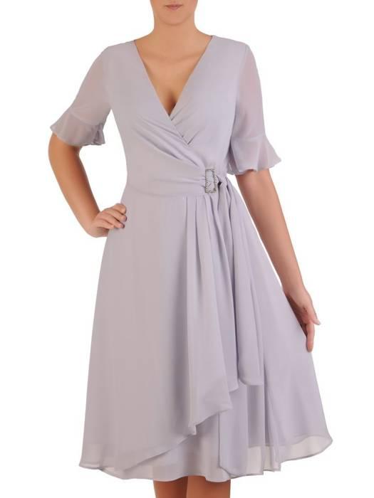 Elegancka, kopertowa sukienka z szyfonu 26307