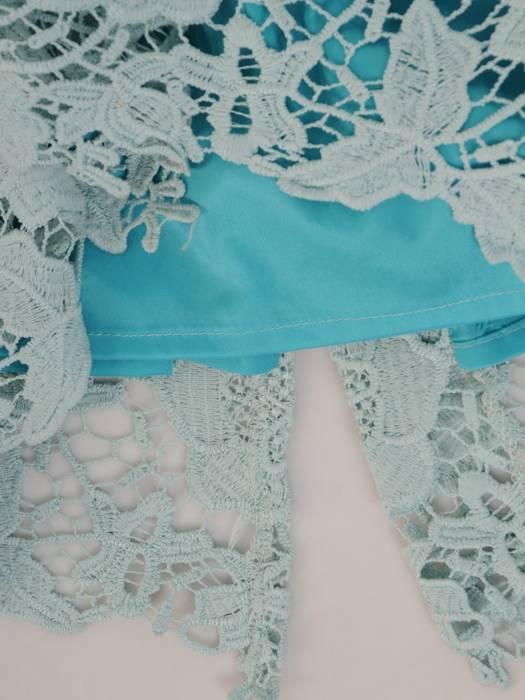 Elegancka, koronkowa sukienka w kolorze mięty 29854