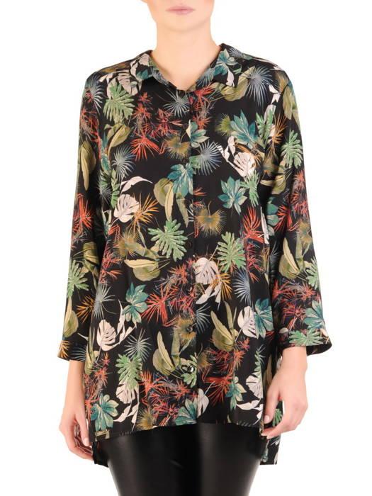 Elegancka koszula damska w roślinny deseń 30833