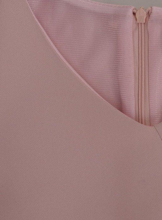 Elegancka, pastelowa sukienka z koronkowymi aplikacjami 17245.