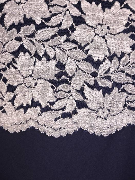 Elegancka sukienka damska, kreacja z koronkowymi wstawkami 29721