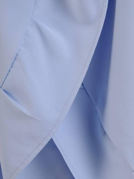 Elegancka sukienka kopertowa, modna kreacja z wiązaniem w pasie 26842