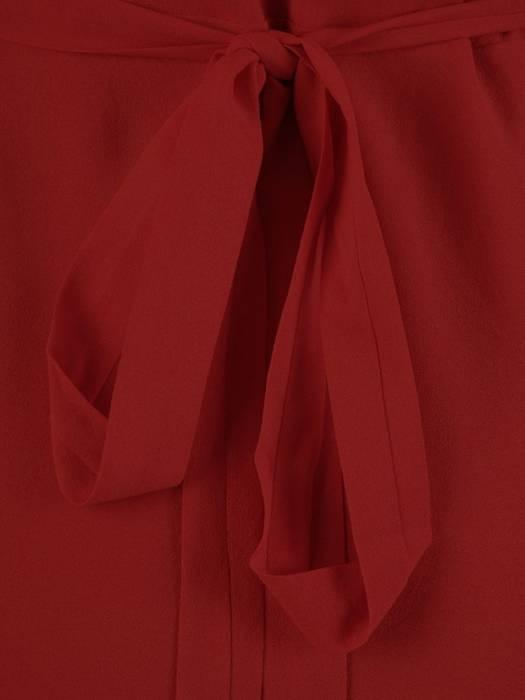 Elegancka sukienka maxi, kreacja z ozdobnymi rozcięciami na rękawach 27160