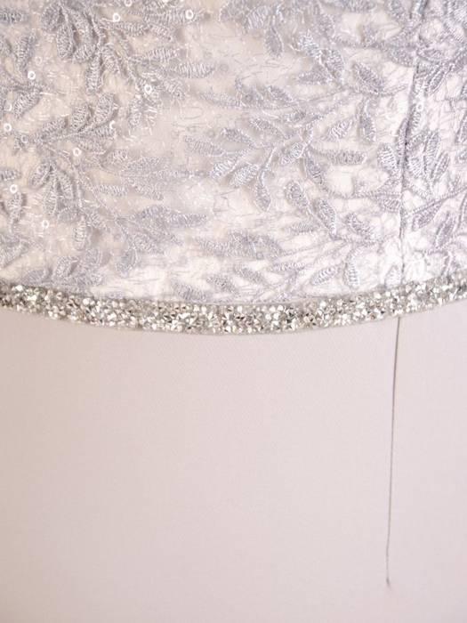 Elegancka sukienka na wesele, kreacja z koronki i tkaniny 30328