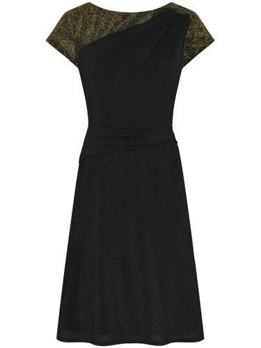 Elegancka sukienka trapezowa Wiwien V, szyfonowa kreacja na wesele.