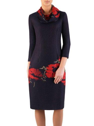 Elegancka sukienka z marszczonym golfem Tomira II