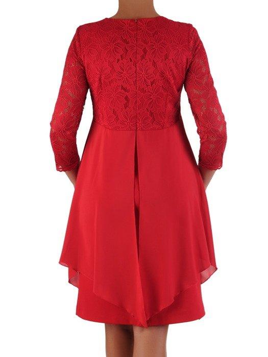 Elegancka sukienka z szyfonową narzutką wyszczuplającą figurę 17344