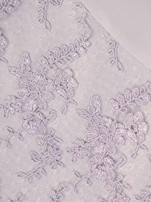 Elegancka szara sukienka, kreacja ze wstawkami z koronki i paskiem 28751