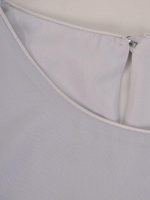 Elegancka szyfonowa bluzka z falbaną 24731