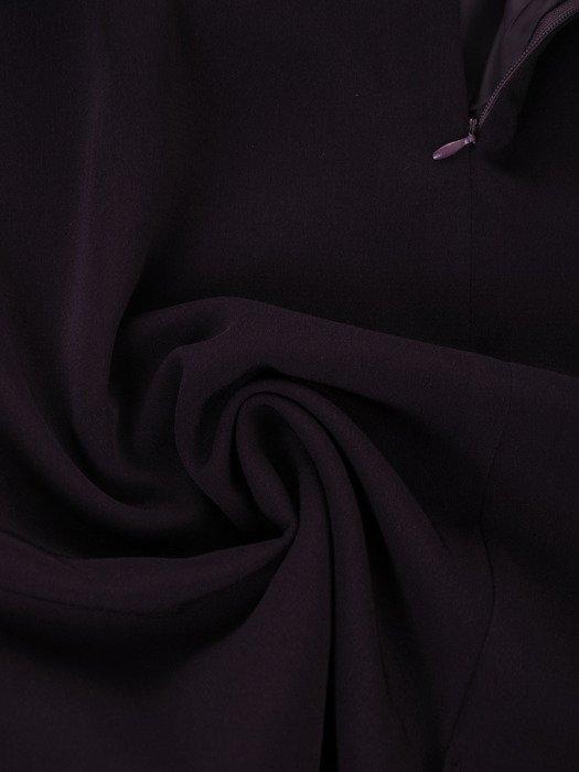 Elegancka, trzyczęściowa garsonka w odcieniu fioletowym Amadea I