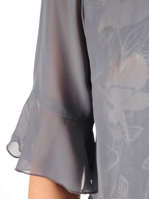 Elegancki komplet damski, połyskująca sukienka z szyfonową bluzką 29608