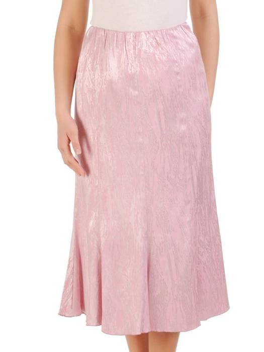 Elegancki komplet damski, pudrowa spódnica z bluzką 29578