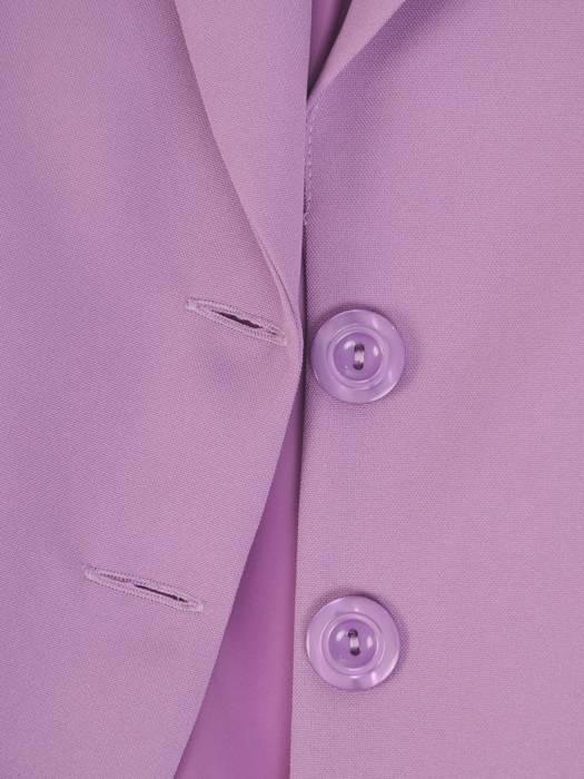 Elegancki wrzosowy żakiet, zapinany na guziki 27304