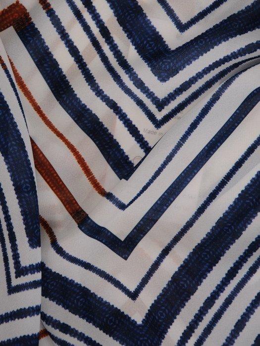Geometryczna bluzka z marszczonym dekoltem 19843