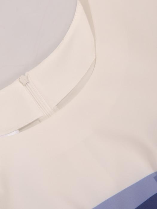 Geometryczna sukienka wyszczuplająca talię 21331