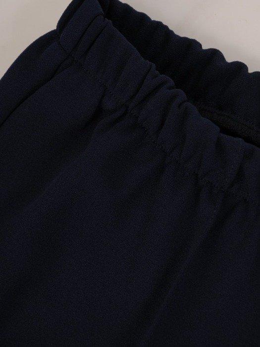Granatowe spodnie z gumką w pasie 25852