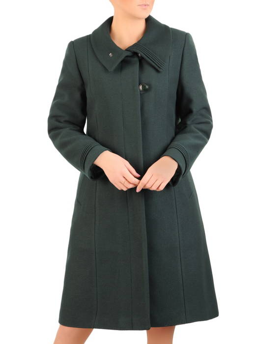 Gustowny płaszcz damski, wełniane okrycie na zimę 31065