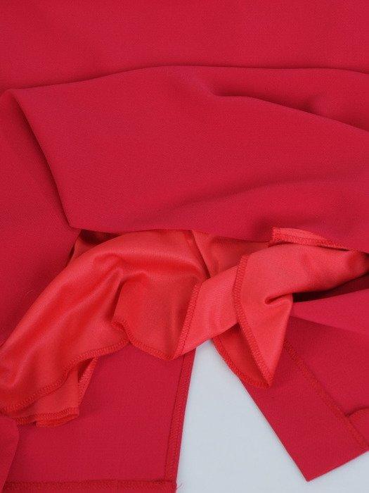 Jesienna sukienka z modną wstawką Sonia IX, nowoczesna kreacja wyszczuplająca