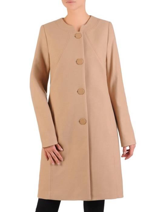 Jesienny płaszcz damski zapinany na guziki 27102