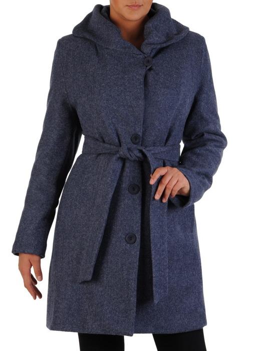 Jesienny płaszcz z szerokim paskiem 22325