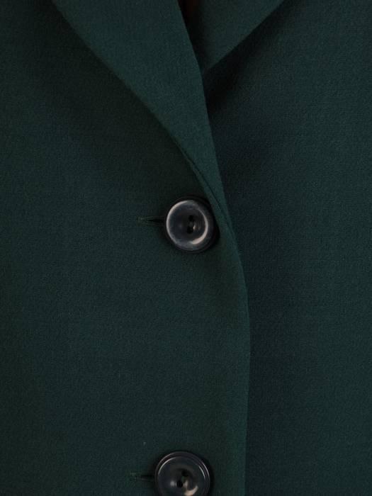 Klasyczny, zielony płaszcz z kołnierzem 27142