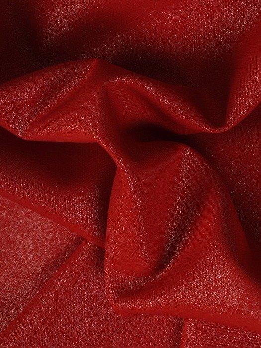 Kolekcja 28352, połyskujące eleganckie sukienki i nowoczesny czerwony żakiet