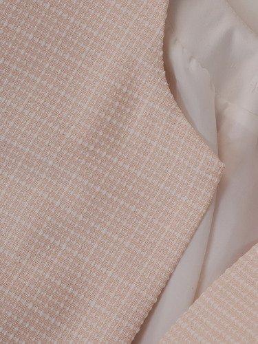 Kolekcja 28378, wiosenny żakiet i spódniczka z tkaniny żakardowej