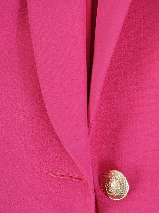 Kolekcja 28518 - amarantowy żakiet i spodnie cygaretki