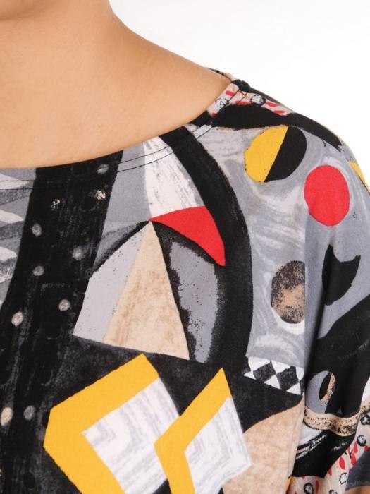 Kolorowa bluzka z kieszonką 29181