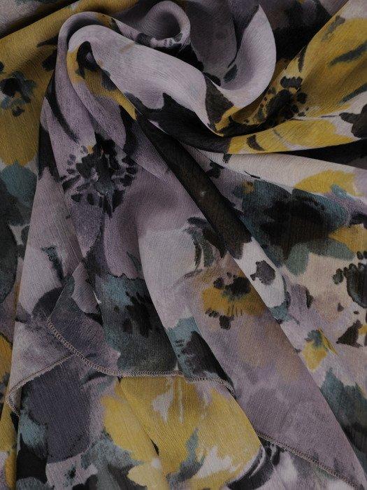Komplet damski 2w1, szara sukienka z luźną szyfonową narzutką 20022.