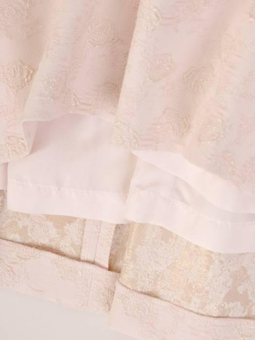 Komplet damski na wesele, rozkloszowana sukienka z żakietem 29671