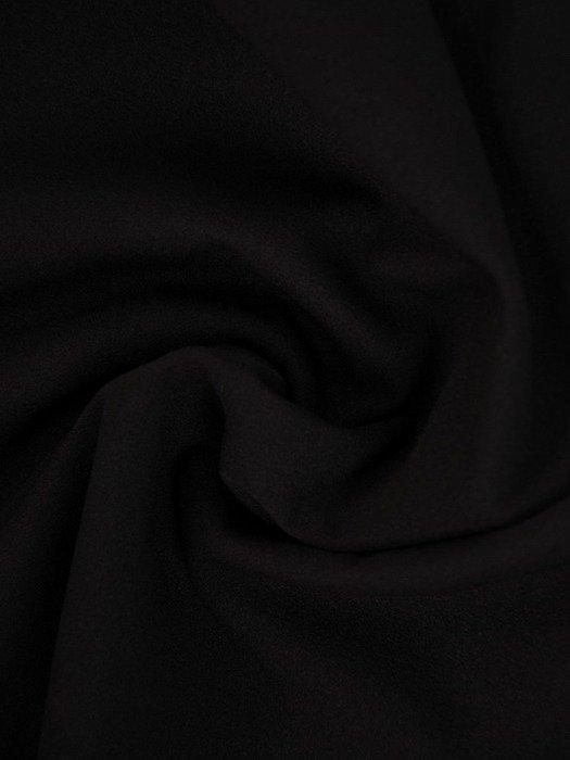 Kopertowa czarna sukienka, modna kreacja z dzianiny 24852