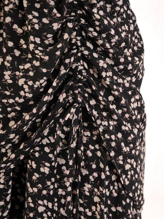 Kopertowa sukienka maxi, kreacja z ozdobną baskinką 30501