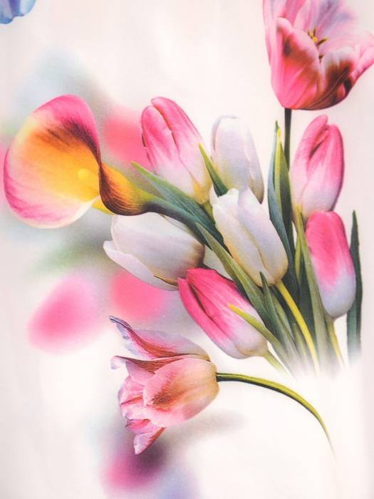 Kopertowa sukienka w kwiaty z ozdobnymi rozcięciami na rękawach 29938