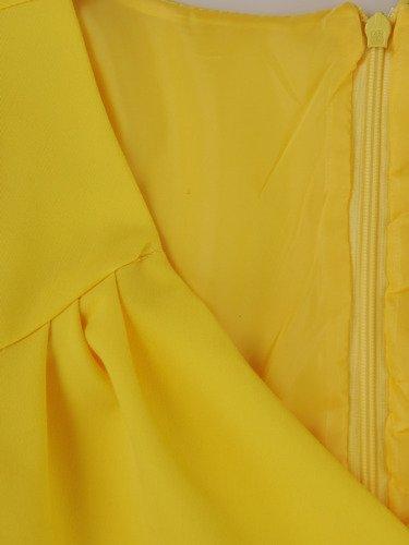 Kopertowa sukienka w modnym kolorze 15681, kreacja maskująca brzuch i biodra.