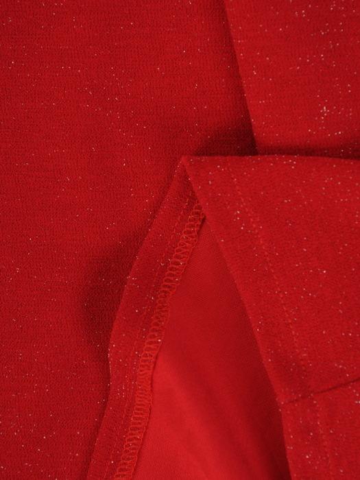 Kopertowa sukienka wizytowa, kreacja z połyskującej dzianiny 22407
