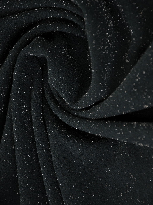 Kopertowa sukienka wizytowa, kreacja z połyskującej dzianiny 22409