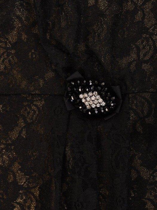 Koronkowa kreacja maxi, piękna sukienka w czarnym kolorze 23774