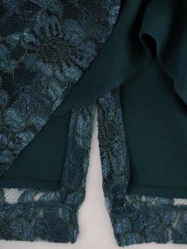 Koronkowa sukienka z szyfonową narzutką 14881, elegancki komplet wizytowy.