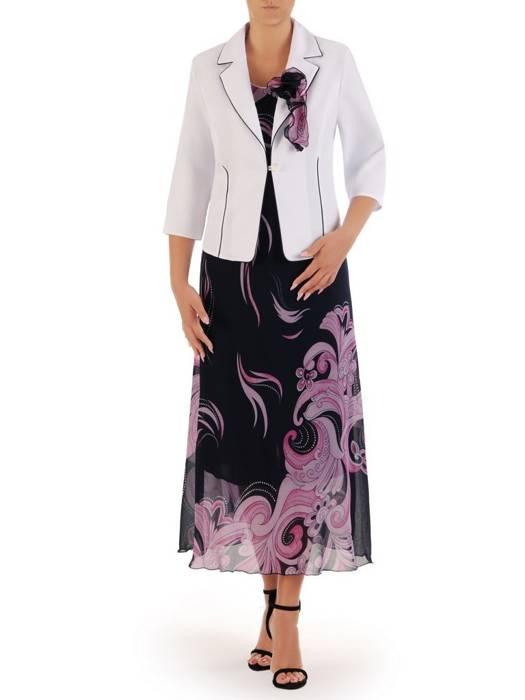 Kostium damski, elegancka sukienka z żakietem 26450