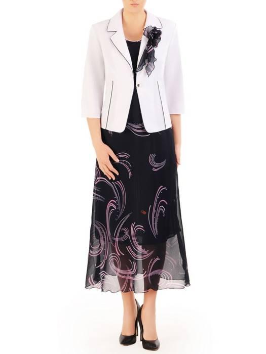 Kostium damski, elegancka sukienka z żakietem 29883
