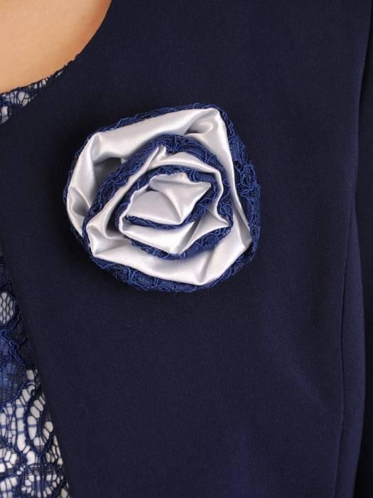 Kostium damski, granatowa sukienka z żakietem 27394