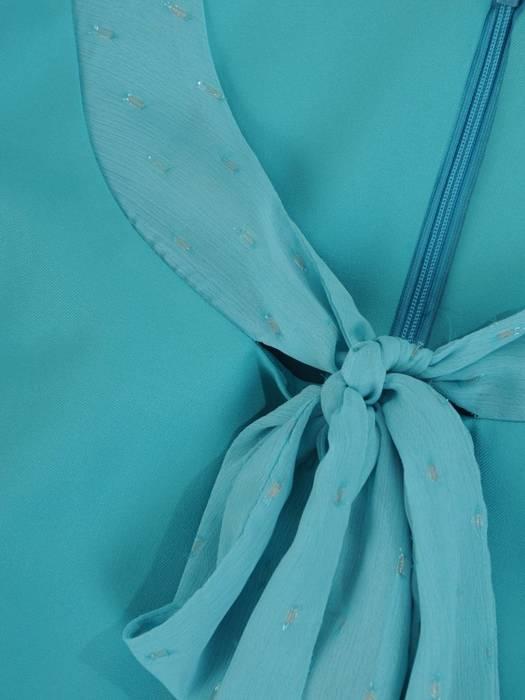Kostium damski, miętowa sukienka z żakietem 26633