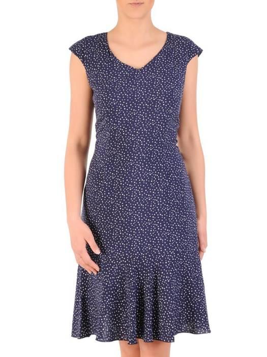 Kostium damski, zwiewna sukienka w groszki z żakietem 29660