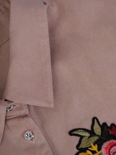 Koszula z kolorowym haftem 16469.