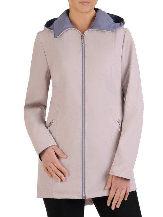 Kremowa kurtka z kontrastowymi wstawkami 25479
