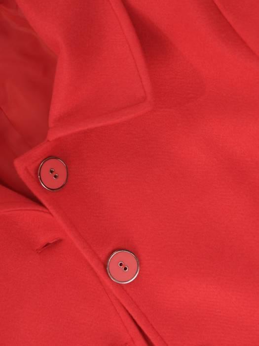 Krótki, czerwony płaszcz damski 28737