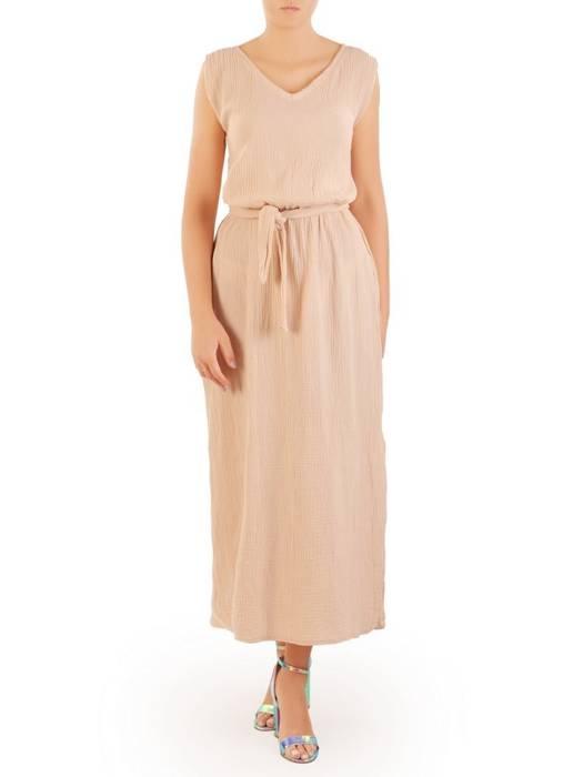 Letnia sukienka maxi, kreacja z przewiewnej bawełny 30255