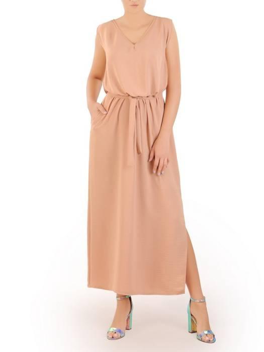 Letnia sukienka maxi, kreacja ze zwiewnej wiskozy 30247