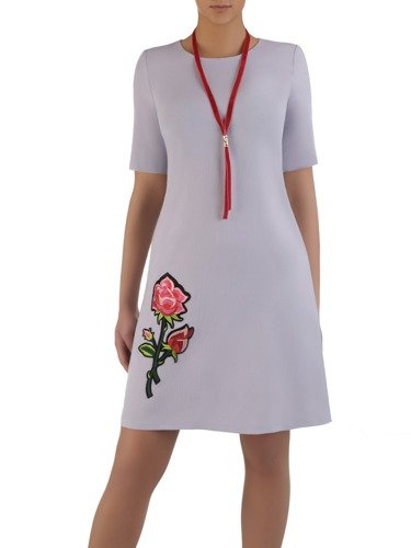 Letnia sukienka z aksamitną aplikacją Sereja I.